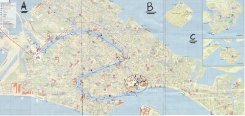 Visitare Venezia in 1 giorno - mappa gratis